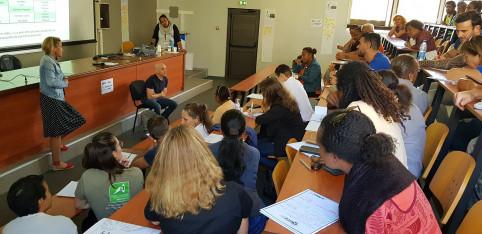 L'un des ateliers « diagnostic » avec la participation d'un comédien professionnel.