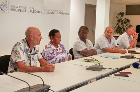 Les membres du gouvernement étaient entourés de Patrick Ventura (Challenge organisation, à gauche) et de la direction de la Jeunesse et des sports (Pierre Forest et Bruno Salvay).