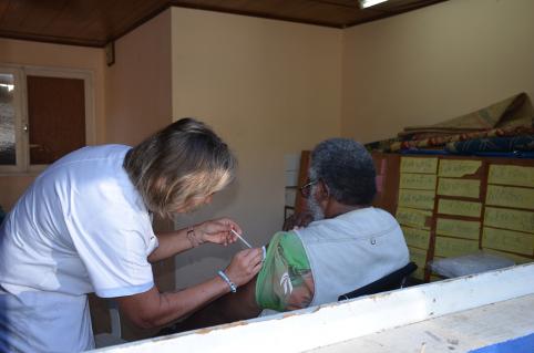Un médecin et une infirmière ont été mobilisés pour la matinée de vaccination.