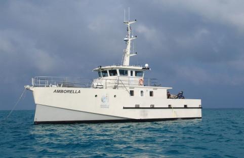 L'Amborella sera amarré au quai des scientifiques le temps des visites.