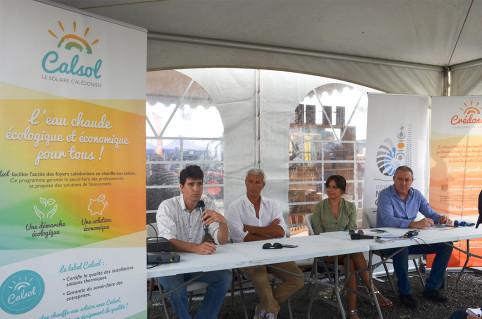 Synergie, Agence calédonienne de l'énergie et gouvernement ont présenté le programme Calsol le 7 mai.