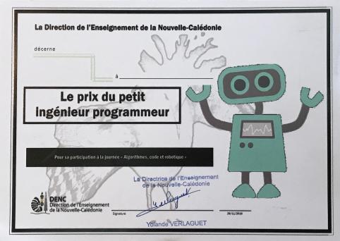 Un diplôme, « le prix du petit ingénieur programmeur », a été remis à chaque enfant.