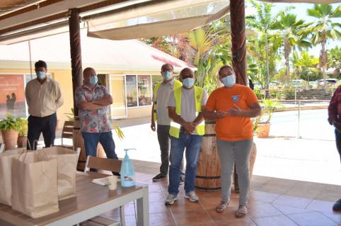 Les volontaires mobilisés dans un hôtel à Koné ont présenté leur organisation.