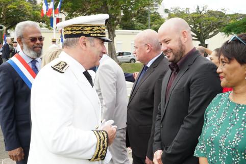 Le nouveau haut-commissaire est venu saluer les membres du gouvernement, parmi lesquels Christophe Gygès et Yoann Lecourieux.