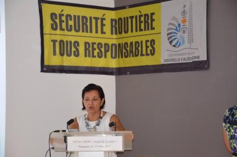 Cynthia Ligeard, en charge de la sécurité routière au gouvernement, a entamé une tournée de sensibilisation dans les communes.