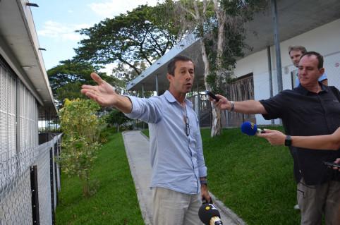 Patrice Delaporte, conducteur de chantier à la DAPM, a animé la visite.