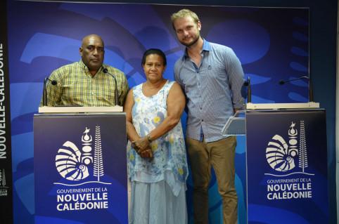 De gauche à droite : Hanner Xalite, Valentine Eurisouké, Nicolas Metzdorf.