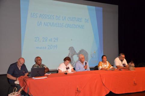 Patrice Godin, Billy Wapotro et Christiane Terrier (de g. à d.), les trois grands témoins invités à participer aux Assises de la culture.