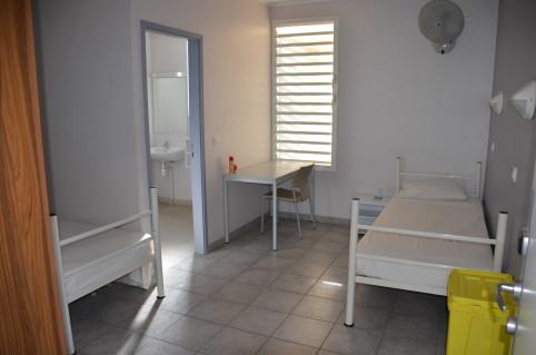 C'est dans une chambre comme celle-ci que seront logées les personnes contact.