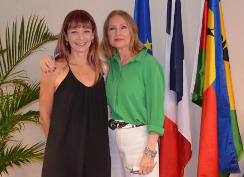 Karine Destours, coordinatrice du dispositif d'accueil des victimes et Nicole Robineau.