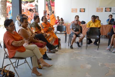 Le plan d'action pays concerté pour l'élimination des violences à l'égard des femmes a été dévoilé en présence de Valentine Eurisouké et de Cynthia Ligeard