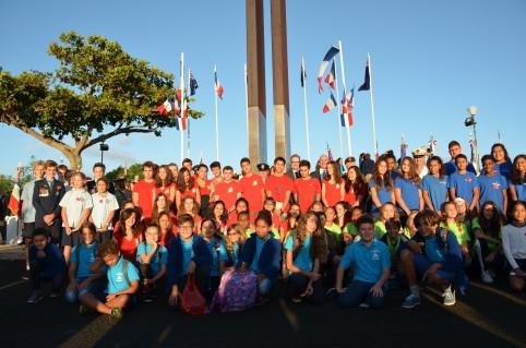 Une soixantaine d'enfants ont participé à la cérémonie.