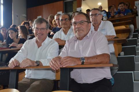 Jean-Louis d'Anglebermes (à d.) a ouvert le séminaire du RIIFE, en présence de Philippe Martin, directeur de la Formation professionnelle continue.