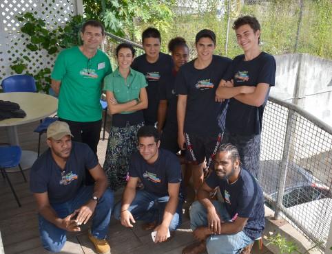 Olivier Grzelak de la DAFE et Marjorie Botella aux côtés des étudiants agricoles inscrits au séminaire de préparation.