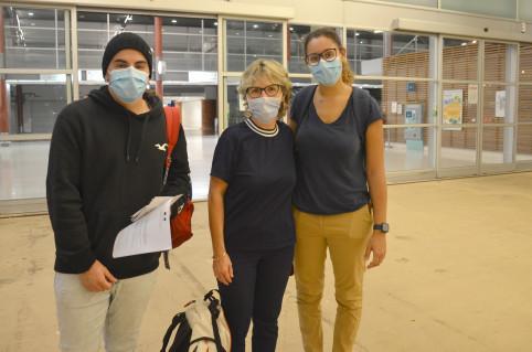 Esteban, Marie-Claude et Iman, tout juste arrivés en Nouvelle-Calédonie.