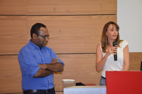 Magda Bonal-Turaud, directrice du Travail et de l'emploi, et Thierry Xozame, directeur adjoint du pôle administration générale et pilotage.