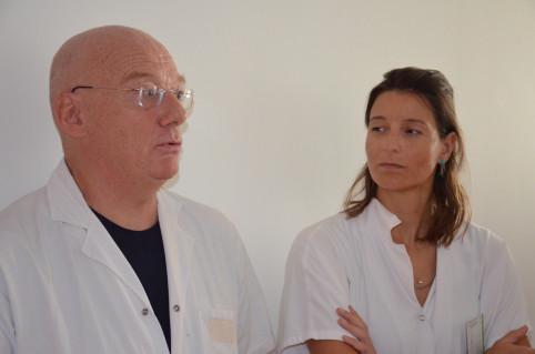 Les docteurs Mathieu Debauchez (IMM) et Priscille Bouvier (CHT).