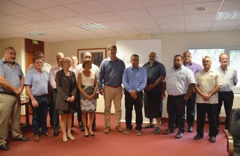 La délégation de Wallis-et-Futuna avec Thierry Santa et Vaimu'a Muliava, membre du gouvernement.