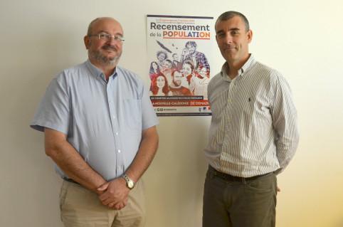 Bertrand Oddo, chef de mission de l'INSEE et Olivier Fagnot, directeur de l'ISEE.