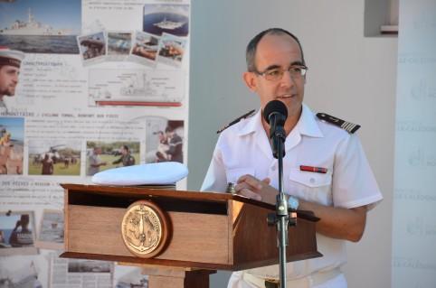 Laurent Bechler, commandant de la Base navale de Nouméa.