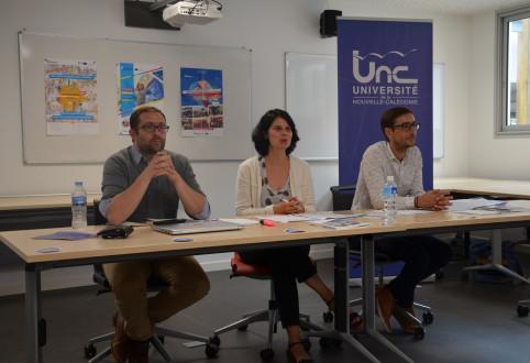 Olivier Duhant, Audre Macé-Rousseau et Gabriel Moreau ont présenté le bilan de leur mission le 27 juin à l'UNC.
