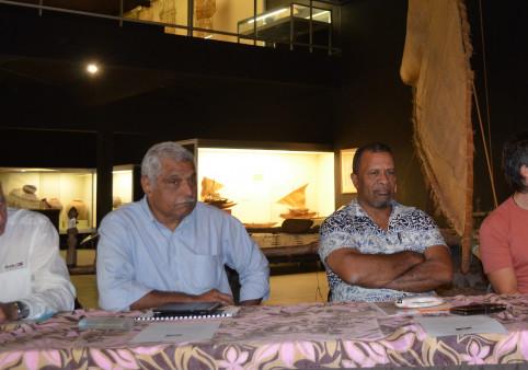 Régis Vendegou et Didier Poidyaliwane lors de la conférence de presse le 25 juillet.