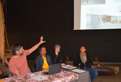 Une partie de l'équipe du musée a présenté le futur parcours muséographique.