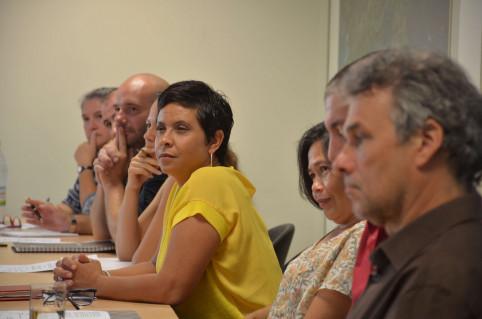 Quinze représentants de la filière du livre et de la presse ont participé à la réunion.