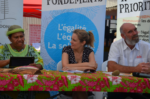 Valentine Eurisouké, Séverine Bouard de l'IAC, et Dominique Deboffle, directeur territorial adjoint de l'ADIE.