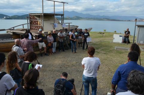 Le lancement du chantier s'est déroulé en présence des services de la DPJEJ, des associations Vakalédonie et Kenu One Project et de représentants des institutions.