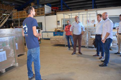 L'entreprise Socometra a ouvert ses portes à la délégation.