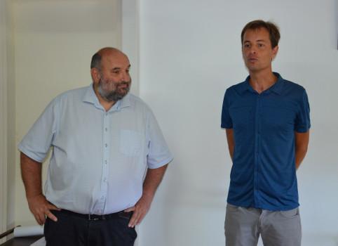 Gilles Perret, Alexandre Peltier (photos) et Thomas Abinun, climatologue, ont animé la présentation.