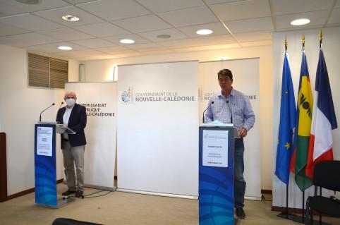 Le président du gouvernement et le haut-commissaire annoncent conjointement les mesures de lutte contre la propagation du Covid-19.