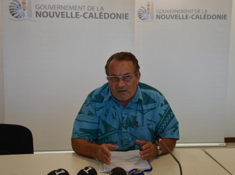 Jean-Louis d'Anglebermes a présenté l'avant-projet de loi du pays aux médias.