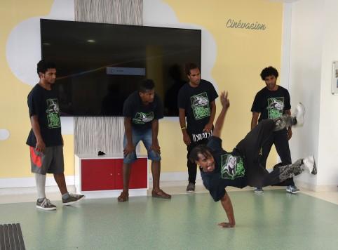 Les jeunes de Saian Breaker Crew ont montré un extrait de leur talent.