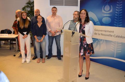 Isabelle Champmoreau, membre du gouvernement en charge de l'enseignement : « Bravo à vous et à vos familles qui vous ont soutenus ».