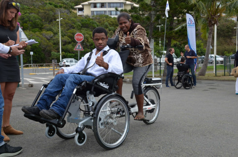Un tricycle adapté au handicap
