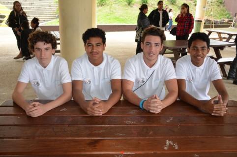 De gauche à droite : Tom 15 ans, Bradley 16 ans, Thomas 18 ans et Karol 15 ans.