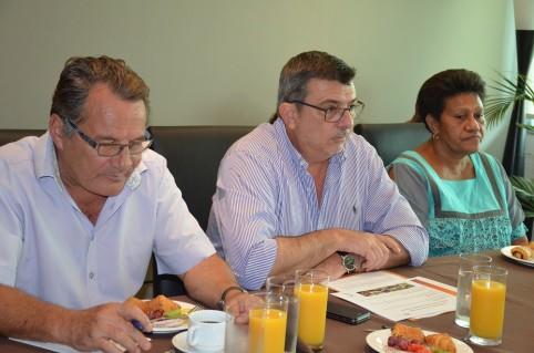Philippe Germain a présenté les grands axes du Plan territorial de sécurité et de prévention de la délinquance à la presse le 22 janvier en présence de Jean-Louis d'Anglebermes, Valentine Eurisouké et Cynthia Ligeard.