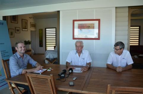 Nicolas Metzdorf, membre du gouvernement chargé de l'énergie, aux côtés de Bernard Blot et de Philippe Mehrenberger, directeur général délégué d'EEC.
