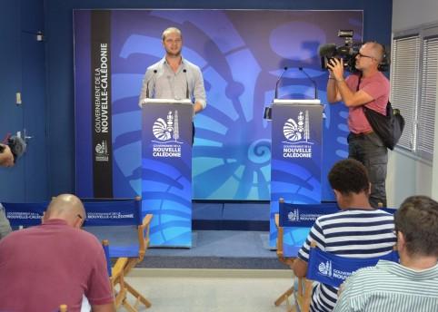 Nicolas Metzdrof, porte-parole du gouvernement, a animé la conférence de presse du gouvernement.
