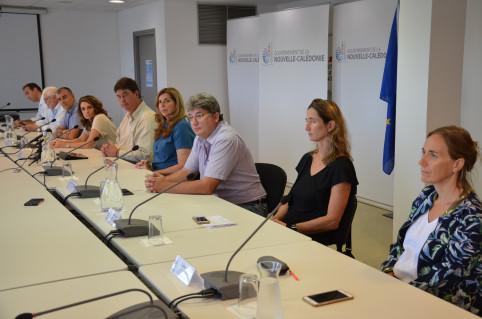 Des représentants des six groupes de travail étaient présents aux côtés de Thierry Santa.