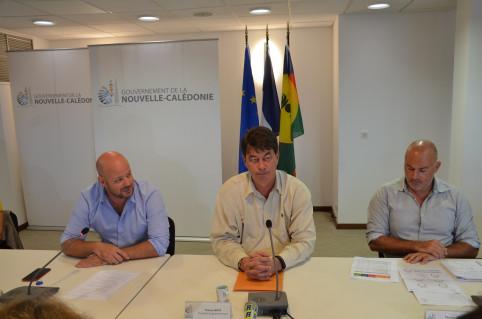 Thierry Santa et Christopher Gygès ont animé le point d'étape sur la campagne de vaccination.