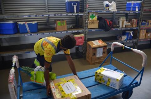 La nouvelle aérogare offre de meilleures conditions de travail aux employés d'Aircal.