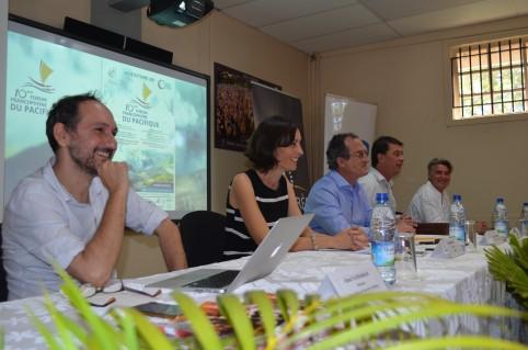 Présentation du Forum, ce lundi 4 septembre par les différents partenaires réunis autour de Bernard Deladrière.