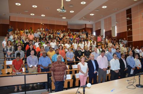 Institutions, autorités judiciaires, coutumières et religieuses, forces de l'ordre et associations étaient présentes ce samedi matin à l'Université.