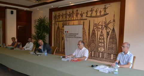 Le haut-commissaire Laurent Prévost a présenté les mesures de l'État avec Bpifrance, la direction des finances publiques, le comité local de la fédération bancaire française et l'IEOM.