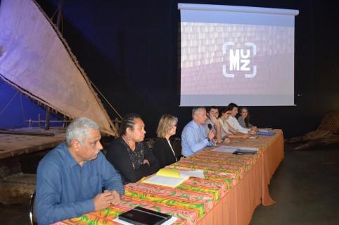 La conférence de presse s'est déroulée au musée de Nouvelle-Calédonie en présence des architectes.