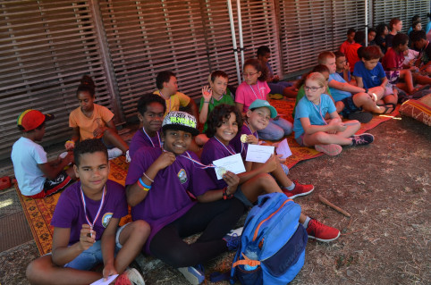 Les élèves du groupe scolaire de Pouembout ont aussi apprécié de dormir au centre culturel Tjibaou, ainsi que les visites et les animations proposées.