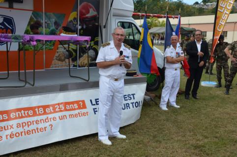 Le Haut-commissaire Laurent Prévost a encouragé les stagiaires du RSMA-NC à « être fiers et à oser ». « En sortant du RSMA vous aurez des atouts en main, des connaissances. Il faudra en profiter, et pousser les portes ! ».